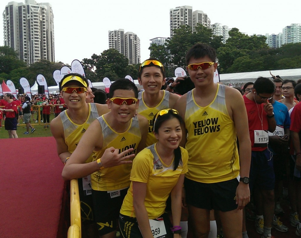 At race start! Raring to go!